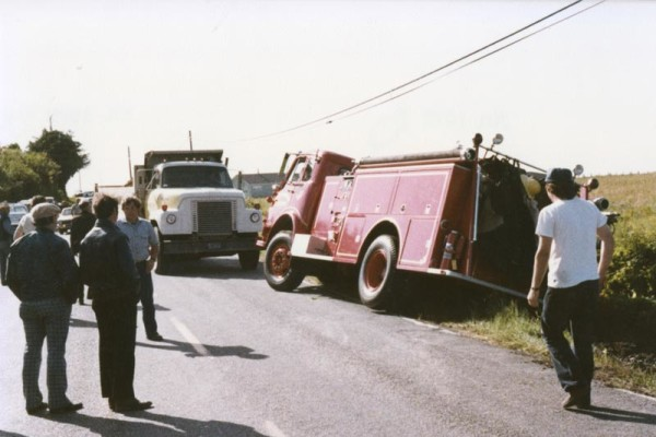1969 Van Pelt being towed out of ditch