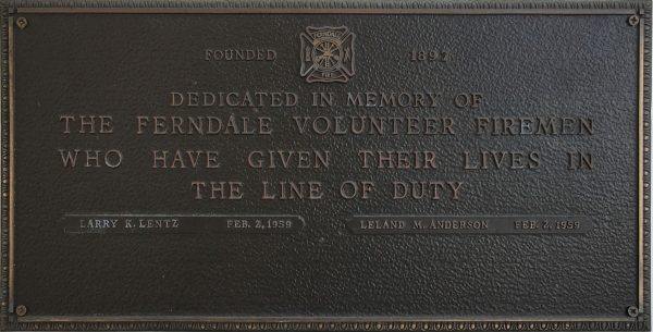 Firefighter Memorial Plaque